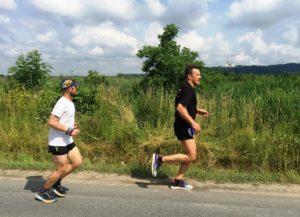 W lipcu podczas biegu z Krakowa do Tyńca i z powrotem omawialiśmy projekt: Łukasz i Tomek